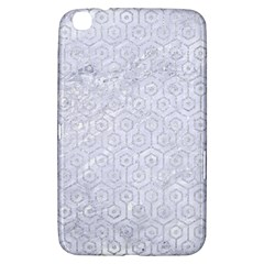Hexagon1 White Marble & Silver Glitter (r) Samsung Galaxy Tab 3 (8 ) T3100 Hardshell Case  by trendistuff