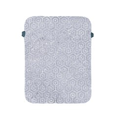 Hexagon1 White Marble & Silver Glitter Apple Ipad 2/3/4 Protective Soft Cases by trendistuff