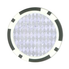 Diamond1 White Marble & Silver Glitter Poker Chip Card Guard (10 Pack) by trendistuff