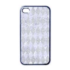 Diamond1 White Marble & Silver Glitter Apple Iphone 4 Case (black) by trendistuff