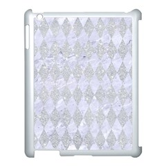 Diamond1 White Marble & Silver Glitter Apple Ipad 3/4 Case (white) by trendistuff