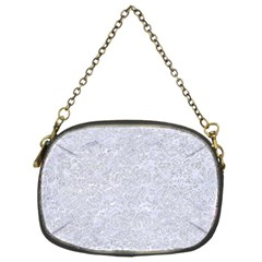 Damask2 White Marble & Silver Glitter (r) Chain Purses (two Sides)  by trendistuff