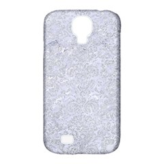 Damask2 White Marble & Silver Glitter (r) Samsung Galaxy S4 Classic Hardshell Case (pc+silicone)