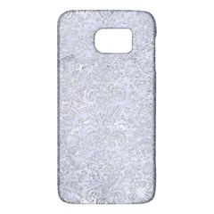 Damask2 White Marble & Silver Glitter (r) Galaxy S6 by trendistuff