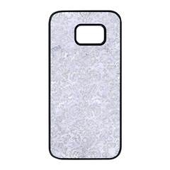 Damask2 White Marble & Silver Glitter (r) Samsung Galaxy S7 Edge Black Seamless Case by trendistuff