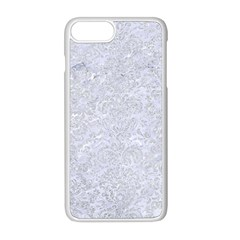 Damask2 White Marble & Silver Glitter (r) Apple Iphone 8 Plus Seamless Case (white) by trendistuff