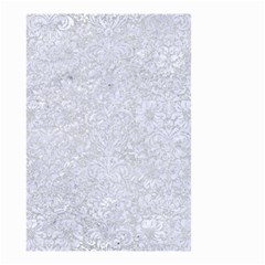 Damask2 White Marble & Silver Glitter Small Garden Flag (two Sides) by trendistuff