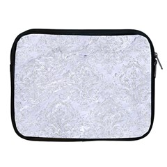 Damask1 White Marble & Silver Glitter (r) Apple Ipad 2/3/4 Zipper Cases