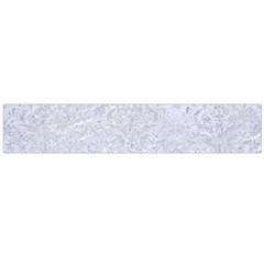 Damask1 White Marble & Silver Glitter (r) Large Flano Scarf  by trendistuff
