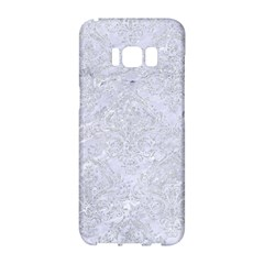 Damask1 White Marble & Silver Glitter (r) Samsung Galaxy S8 Hardshell Case