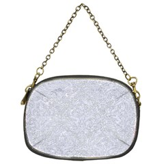 Damask1 White Marble & Silver Glitter Chain Purses (one Side)  by trendistuff