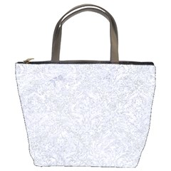 Damask1 White Marble & Silver Glitter Bucket Bags by trendistuff