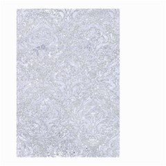 Damask1 White Marble & Silver Glitter Small Garden Flag (two Sides) by trendistuff
