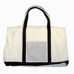Circles3 White Marble & Silver Glitter (r) Two Tone Tote Bag by trendistuff