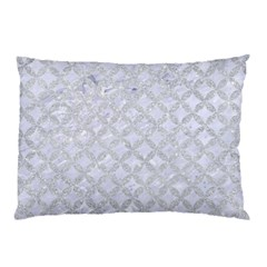 Circles3 White Marble & Silver Glitter (r) Pillow Case by trendistuff