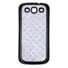 Circles3 White Marble & Silver Glitter Samsung Galaxy S3 Back Case (black) by trendistuff