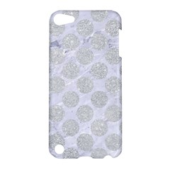 Circles2 White Marble & Silver Glitter (r) Apple Ipod Touch 5 Hardshell Case by trendistuff