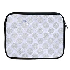 Circles2 White Marble & Silver Glitter (r) Apple Ipad 2/3/4 Zipper Cases by trendistuff