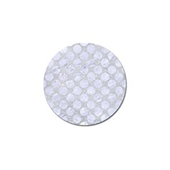 Circles2 White Marble & Silver Glitter Golf Ball Marker (10 Pack) by trendistuff