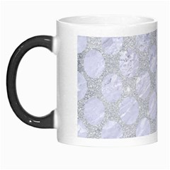 Circles2 White Marble & Silver Glitter Morph Mugs by trendistuff