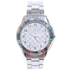 Circles2 White Marble & Silver Glitter Stainless Steel Analogue Watch by trendistuff