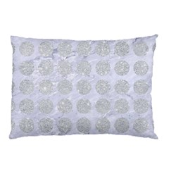 Circles1 White Marble & Silver Glitter (r) Pillow Case by trendistuff