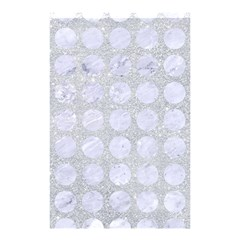 Circles1 White Marble & Silver Glitter Shower Curtain 48  X 72  (small)  by trendistuff