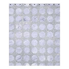 Circles1 White Marble & Silver Glitter Shower Curtain 60  X 72  (medium)  by trendistuff