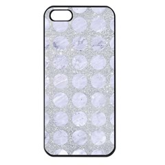Circles1 White Marble & Silver Glitter Apple Iphone 5 Seamless Case (black) by trendistuff
