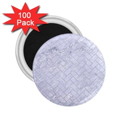 Brick2 White Marble & Silver Glitter (r) 2 25  Magnets (100 Pack)  by trendistuff