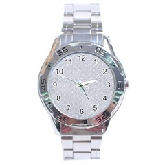 Brick2 White Marble & Silver Glitter Stainless Steel Analogue Watch by trendistuff