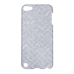 Brick2 White Marble & Silver Glitter Apple Ipod Touch 5 Hardshell Case by trendistuff