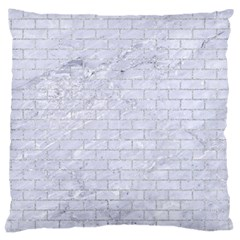 Brick1 White Marble & Silver Glitter (r) Large Cushion Case (two Sides) by trendistuff