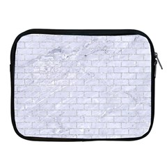 Brick1 White Marble & Silver Glitter (r) Apple Ipad 2/3/4 Zipper Cases by trendistuff