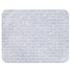 Brick1 White Marble & Silver Glitter Double Sided Flano Blanket (medium)  by trendistuff