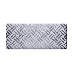Woven2 White Marble & Silver Brushed Metal (r) Cosmetic Storage Cases