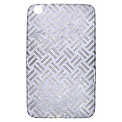Woven2 White Marble & Silver Brushed Metal (r) Samsung Galaxy Tab 3 (8 ) T3100 Hardshell Case  by trendistuff
