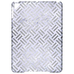 Woven2 White Marble & Silver Brushed Metal (r) Apple Ipad Pro 9 7   Hardshell Case