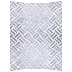 Woven2 White Marble & Silver Brushed Metal (r) Back Support Cushion by trendistuff