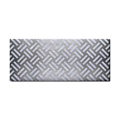 Woven2 White Marble & Silver Brushed Metal Cosmetic Storage Cases by trendistuff