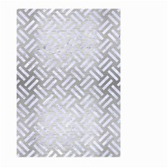 Woven2 White Marble & Silver Brushed Metal Large Garden Flag (two Sides) by trendistuff