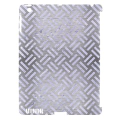 Woven2 White Marble & Silver Brushed Metal Apple Ipad 3/4 Hardshell Case (compatible With Smart Cover) by trendistuff