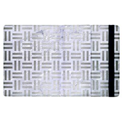 Woven1 White Marble & Silver Brushed Metal (r) Apple Ipad 3/4 Flip Case by trendistuff