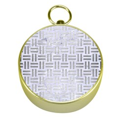 Woven1 White Marble & Silver Brushed Metal (r) Gold Compasses by trendistuff