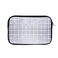Woven1 White Marble & Silver Brushed Metal (r) Apple Macbook Pro 13  Zipper Case by trendistuff