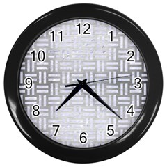 Woven1 White Marble & Silver Brushed Metal Wall Clocks (black) by trendistuff