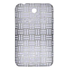 Woven1 White Marble & Silver Brushed Metal Samsung Galaxy Tab 3 (7 ) P3200 Hardshell Case