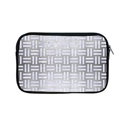 Woven1 White Marble & Silver Brushed Metal Apple Macbook Pro 13  Zipper Case by trendistuff