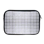 WOVEN1 WHITE MARBLE & SILVER BRUSHED METAL Apple MacBook Pro 17  Zipper Case Front