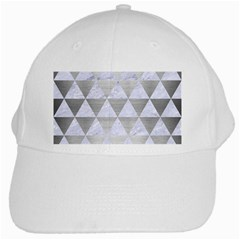 Triangle3 White Marble & Silver Brushed Metal White Cap by trendistuff